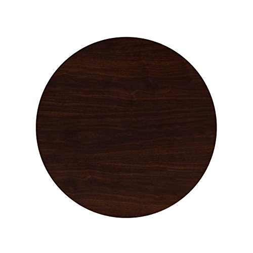 Flash Furniture 30'' Round High-Gloss Walnut Resin Table Top with 2'' Thick Drop-Lip by Flash Furniture