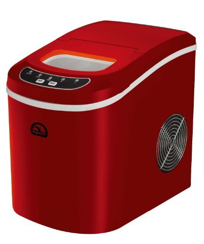 iGloo ICE102-Red Compact Ice Maker, Red (Renewed)