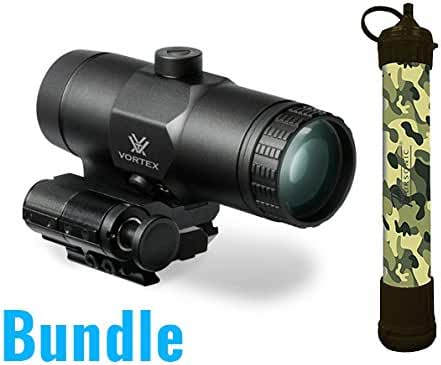 Vortex VMX-3T Magnifier with Flip Mount With a Free Pursonic SS1 Survivor Straw Personal Water Filter included!