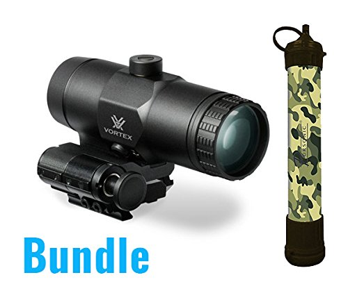 Vortex VMX-3T Magnifier with Flip Mount With a Free Pursonic SS1 Survivor Straw Personal(Water Filter)