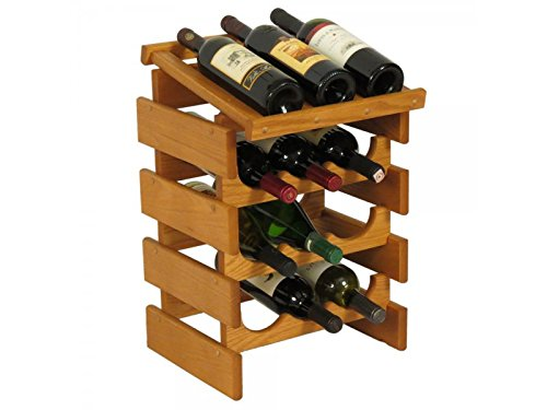 12 Bottle Dakota™ Wine Rack with Display Top by Wooden Mallet
