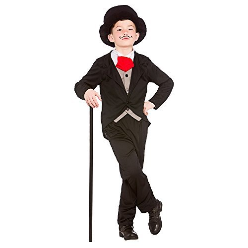 (L) (8-10) Boys Victorian Gentleman Costume for Dickensian Edwardian Fancy Dress Outfit by Partypackage (Victorian Gentleman Fancy Dress)