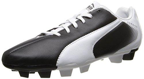 PUMA Men's Adreno Firm Ground Soccer Shoe, Black/White, 9 M US