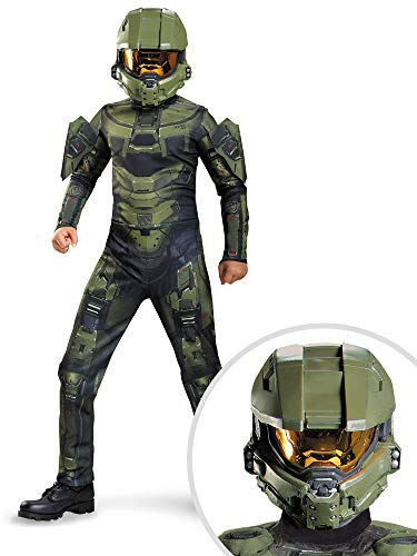 Halo Master Chief Costume Kit Kids XL With Helmet -