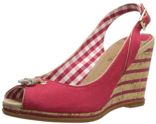 Sperry Top-Sider Women's Mabel Canvas Espadrille Sandal,Red,8.5 M US