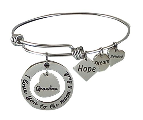 Stainless Expandable Bangle Bracelet Grandma