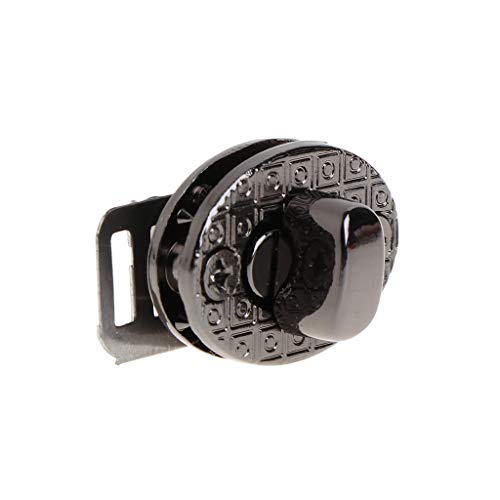 - 5pcs/ Set Metal Clasp Turn Lock Twist Lock for DIY Chain Strap Bag Shorten Shoulder Handbag Crossbody Purse Hardware Closure Accessories (Black)
