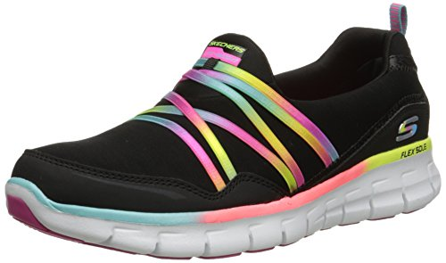 Skechers Sport Women's Scene Stealer Fashion Sneaker,Black/Multi,7.5 M