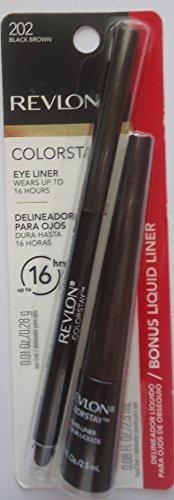 Revlon Colorstay Eye Liner #202 Black Brown with Liquid Eye