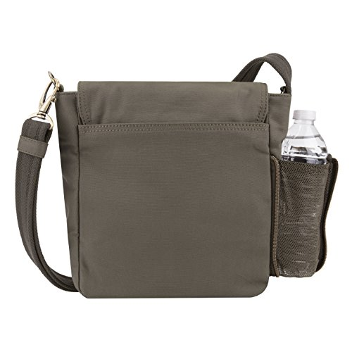Travelon Women's Anti-Theft Courier Tour Bag Travel Tote, Stone Gray, One Size by Travelon (Image #4)