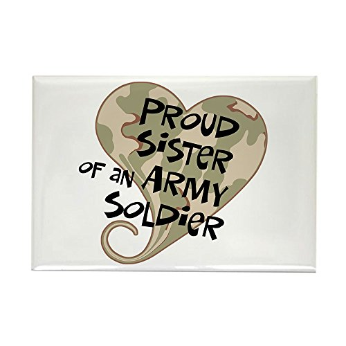 CafePress - Proud sister Army soldier Rectangle Magnet - Rectangle Magnet, 2