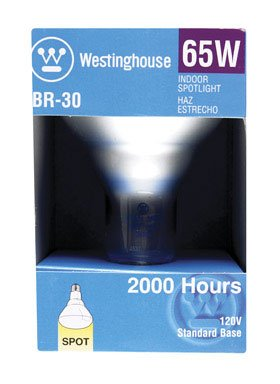 (Westinghouse Br30 Reflector Spotlight 65 W 920 Lumens Standard Base 5-3/8 In. Boxed)