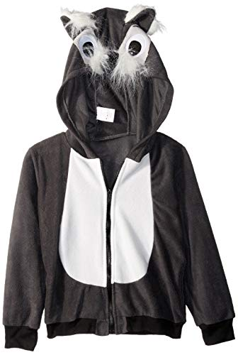 RG Costumes Girl 40532-L Smoochi The Squirrel Hoodie Costume, Gray/White, Large ()