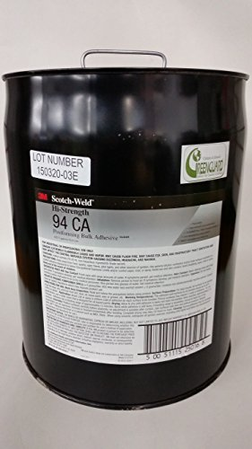 3M(TM) Hi-Strength Postforming 94 CA Adhesive Clear Low VOC, 5 gal pail by Scotch