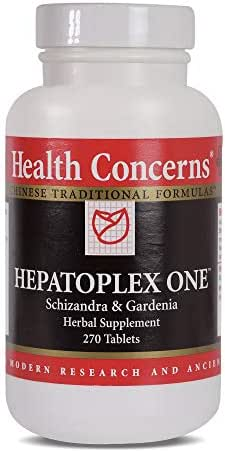 Health Concerns - Hepatoplex One - Schizandrea & Gardenia Herbal Supplement - Helps Maintain Normal Liver Function - 270 Tablets