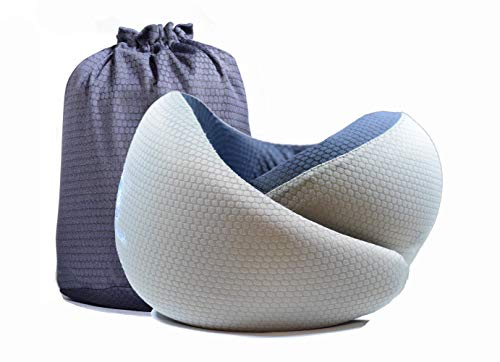 U-shaped Travel Pillow - Memory Foam U-Shaped Travel Pillow, Breathable, Adult and Children Neck Support | Home, Vehicle, Airplane, car seat | Lightweight, Portable Design | Soft, Form-Fitting