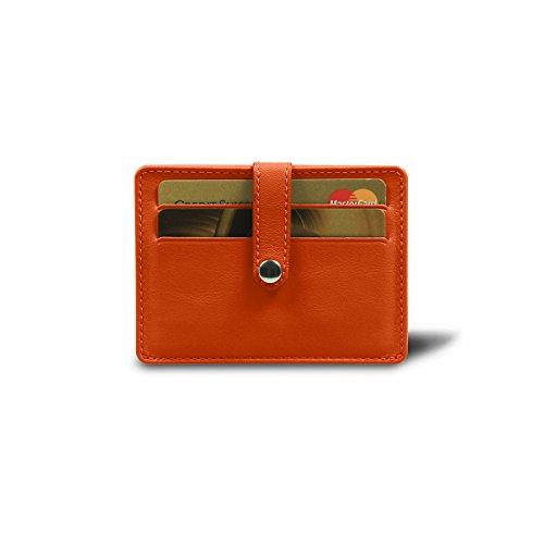 Arancione Di 8 Porta Pelle Liscia Semplice Carte Lucrin Credito nHa1Axq