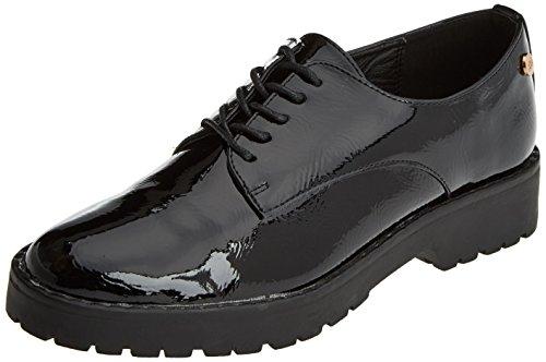 Zapatos Cordones Oxford Mujer 047512 para XTI de Black Negro UqRz5