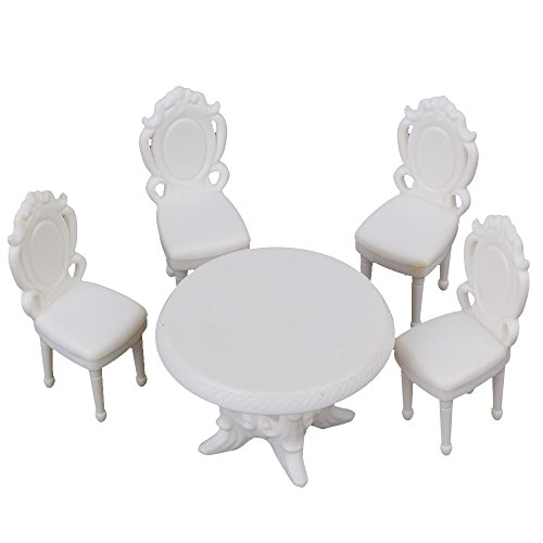 1:20 Scale Modern Table Chair for Cute Dollhouse Miniature Furniture Dining Room Modern Dining Room Furniture