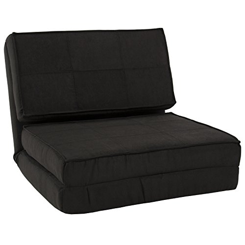 LTL Black sofa chair out longer Convertible Chair Flip Out Lounger