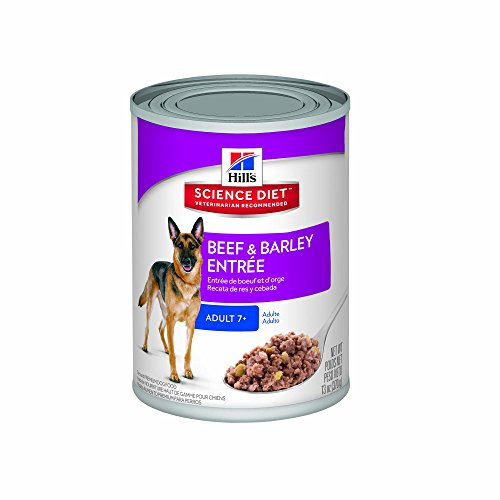 Beef Meal Barley (Hill's Science Diet Adult 7+ Beef & Barley Entrée Canned Dog Food, 13 oz, 12-pack)