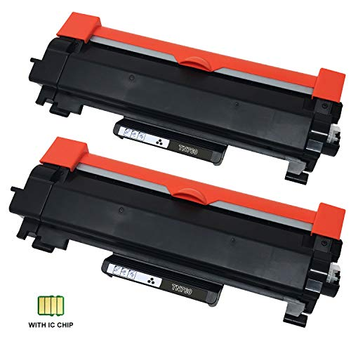 Precise Point with Chip Compatible Toner Cartridge Replacement for Brother TN760 TN 760 TN730 to use with HL-L2350DW HL-L2395DW HL-L2390DW MFC-L2750DW L2710DW DCP-L2550DW (2 Pack,Black)