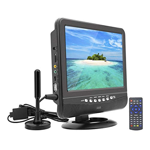 GJY 9.5-Inch Portable Widescreen TV, Built in Digital Tuner+NTSC,USB/TF Card Slot/Headphone Inputs,with Detachable Antennas,Automotive Mobile TV,Full Function Remote,Removable Bracket (Portable Tv Dvd Radio Combo)