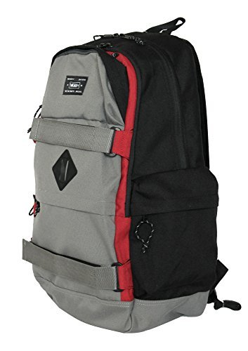 Vans Off The Wall Jetter Carry All Skate Backpack-Pewter/Black/Red