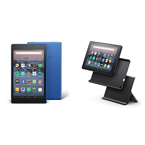 """Certified Refurbished Fire HD 8 Tablet (8"""" HD Display, 16 GB) - Blue with Show Mode Charging Dock"""