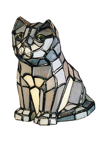 Meyda Tiffany 11323 Cat Tiffany Glass Accent Lamp, 7