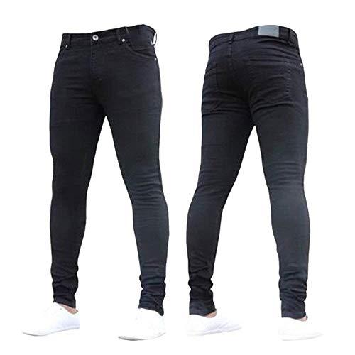 Con Vestibilità Effetto Uomo Skinny Taglie Hx Pantaloni Abiti Nero Comode Invecchiato Jeans Regolare Da Vintage Fashion Eleganti Casual wqtwxWXfvP