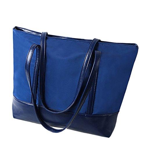 Mujer Nuevo Estilo Moda Moda Impermeable Oxford Tela Gran Capacidad Práctico Solo Hombro Blue