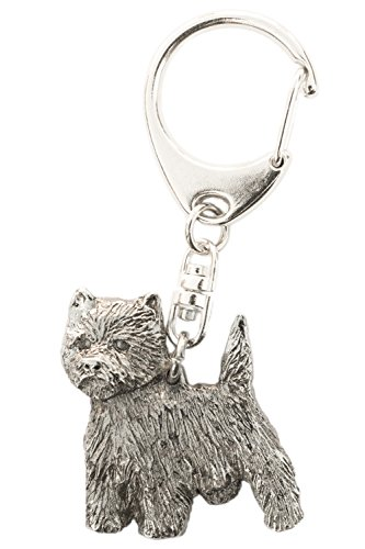 Miniature West Highland White Terrier - West Highland White Terrier Made in U.K Artistic Style Dog Key Ring Collection