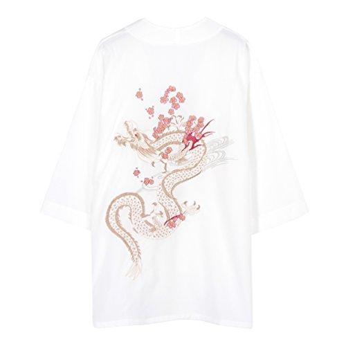 (ライチ) Lychee レディース ゴージャス刺繍入り アウター 龍と桜 チャイナファッション カーディガン 上着 羽織る 薄手 休み ボレロ ビーチ 海 大きいサイズ 冷房対策