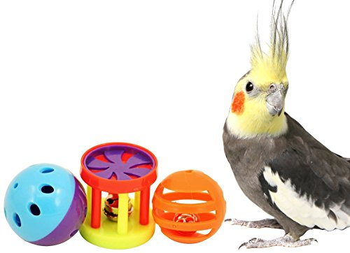 41d13EfBxlL - Bonka Bird Toys 1195 Play 3 Foot Toys ball cockatiel parakeet toys cage parrot cat conure