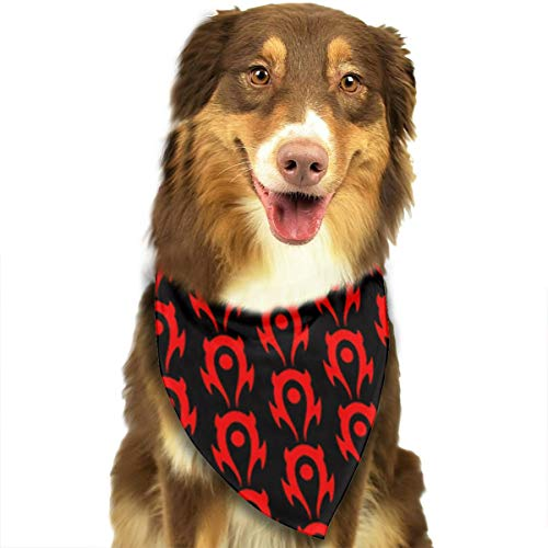 OURFASHION Horde Devil Red Bandana Triangle Bibs Scarfs Accessories for Pet Cats and Puppies.Size is About 27.6x11.8 Inches (70x30cm).]()