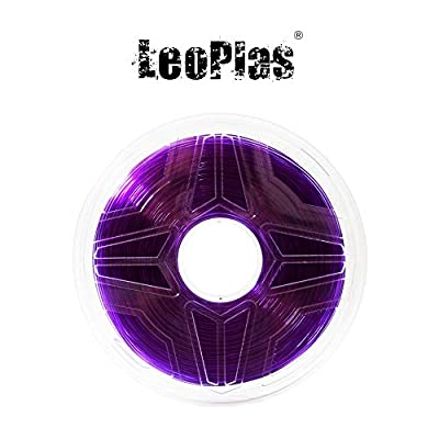 LeoPlas New Store USA Warehouse 1.75mm Translucent Purple PETG Filament 17 Colors 1Kg 2.2 Pounds FDM 3D Printer Pen Supplies Plastic Printing Material