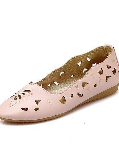 Blanc-us6.5-7   eu37   uk4.5-5   cn37 PDX femme Chaussures Talon Plat Bateau Bout Rond appartements Mocassins extérieure décontracté Noir jaune rose blanc