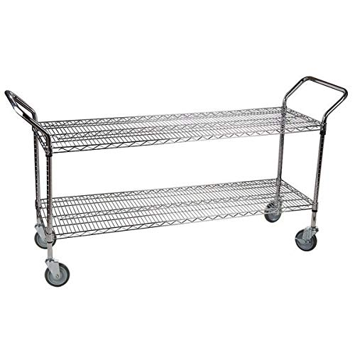 Chrome Open Base Utility Cart - TableTop King 24