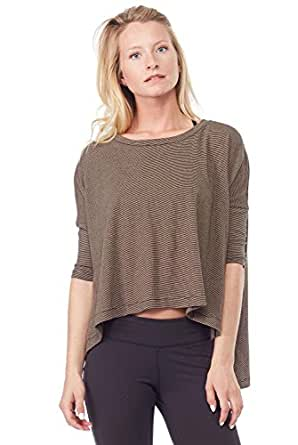 Project Social T Up North Side Split Top-PST Camel-Small (S) Camel/Black Stripe