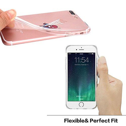 iPhone 7 plus Coque, JIAXIUFEN TPU Coque Silicone Étui Housse Protecteur pour iPhone 7 plus (2016) - Spider