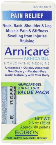 Boiron Arnicare гель с Мульти дозы (синий) Труба для боли в мышцах, 2,6 Ounce гель + 80 Пеллеты
