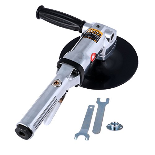 "Neiko 30069A Heavy Duty 7"" Pneumatic Air Angle Polisher 