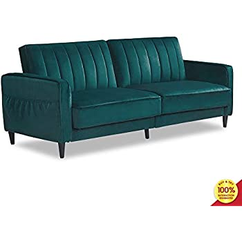 Amazon.com: DHP Ivana Accent Chair, Tela, Azul terciopelo ...