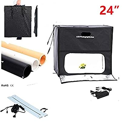 iEGrow Photo Studio Light Tent Diffusion Soft Box Shooting Cube 24x24 inch//60x60 cm with 4 Colors Background Cloth