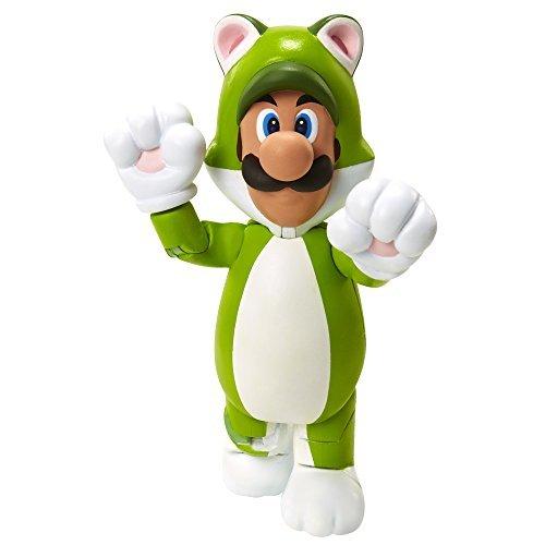 World of Nintendo 91448 4 Cat Luigi Action Figure by World of Nintendo