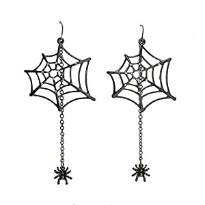 Katara Decor – Spider Web Earrings Rhinestone Halloween
