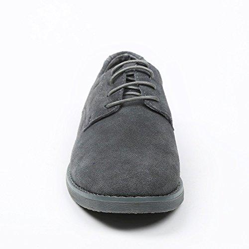 Ideal Shoes Schuhe De Ville Herren Leder Effekt Wildleder dael Grau