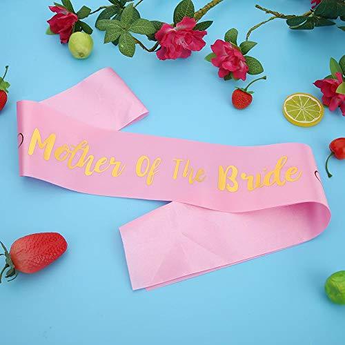 Shower Mother Satin Party 504 Pink b jd Strap Sash The Shoulder Mother Groom Wedding Shoulder WinnerEco Strap White RfqcwgH1WH