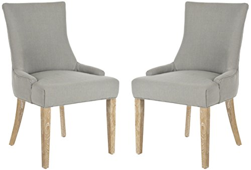 Safavieh MCR4709A-SET2 Mercer Collection Lester Granite and White Washed Dining Chair (Set of 2) -  MCR4709AR-SET2